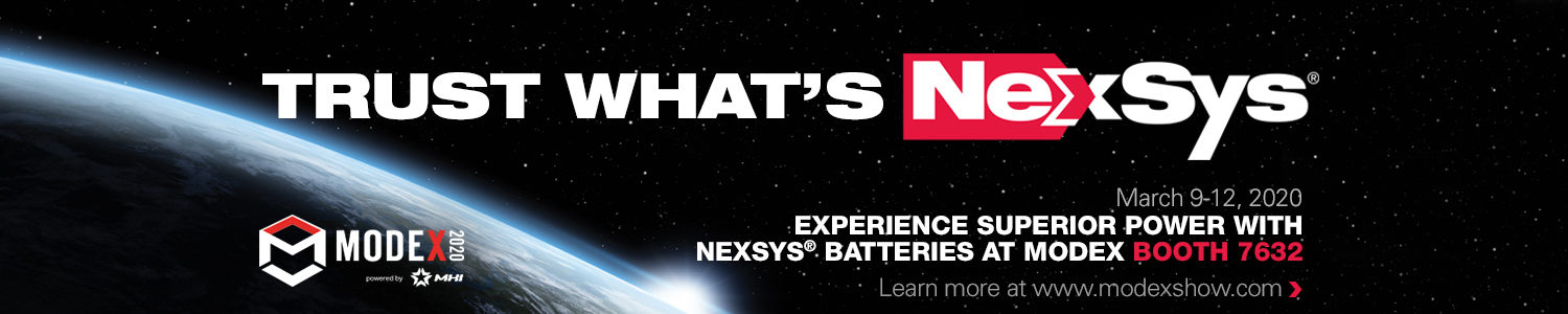 Experience Superior Power with NexSys Batteries at MODEX 2020